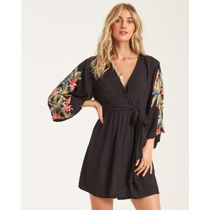 Billabong Black Wrap Dress